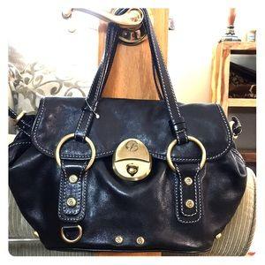 💕 Francesco biasia small black leather satchel 💕